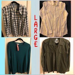 Other - 4 Piece Long Sleeve Shirt Bundle